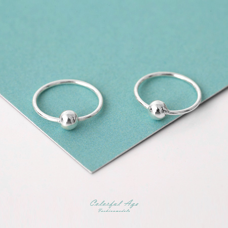 925純銀耳針耳環 細緻質感小圈圈設計耳環 可戴耳骨 抗過敏抗氧化 柒彩年代【NPD17】一對價格