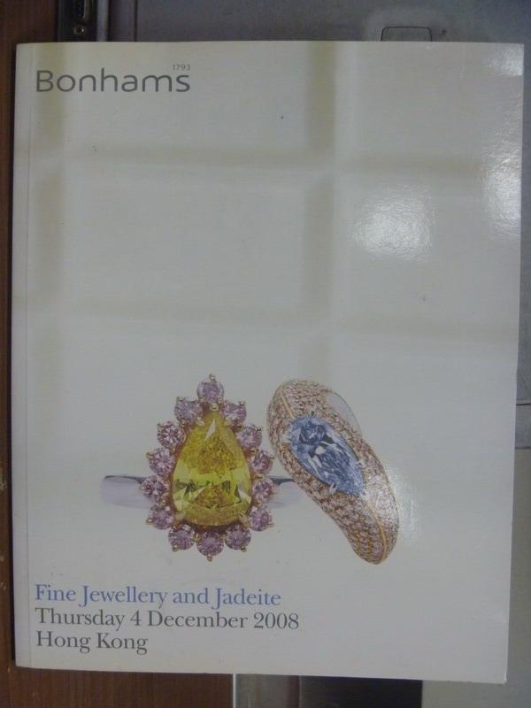 【書寶二手書T3/收藏_PFY】Bonhams_Fine jewellery and jaddite_2008/12/4