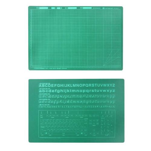 巴士 0516-2 教課桌專用雙面切割墊板 40X60cm 綠色