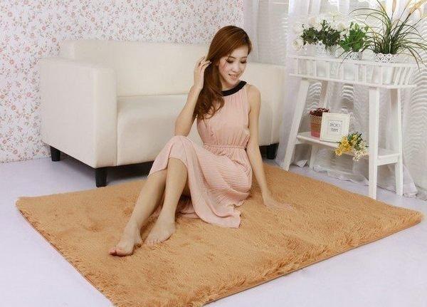 160*80cm 超細緻柔軟絲絨毯 防滑 柔軟 絲毛 乳膠 地墊 地毯 加厚可水洗絨毛地毯