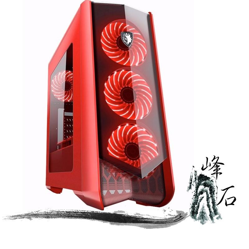 賽德斯 Horus 荷魯斯 紅  透側 USB3.0 電競機殼 主機殼 12CM風扇x7