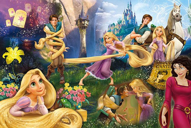 【P2 拼圖】Disney Princess 魔髮奇緣拼圖1000片-D024 HPD01000-024