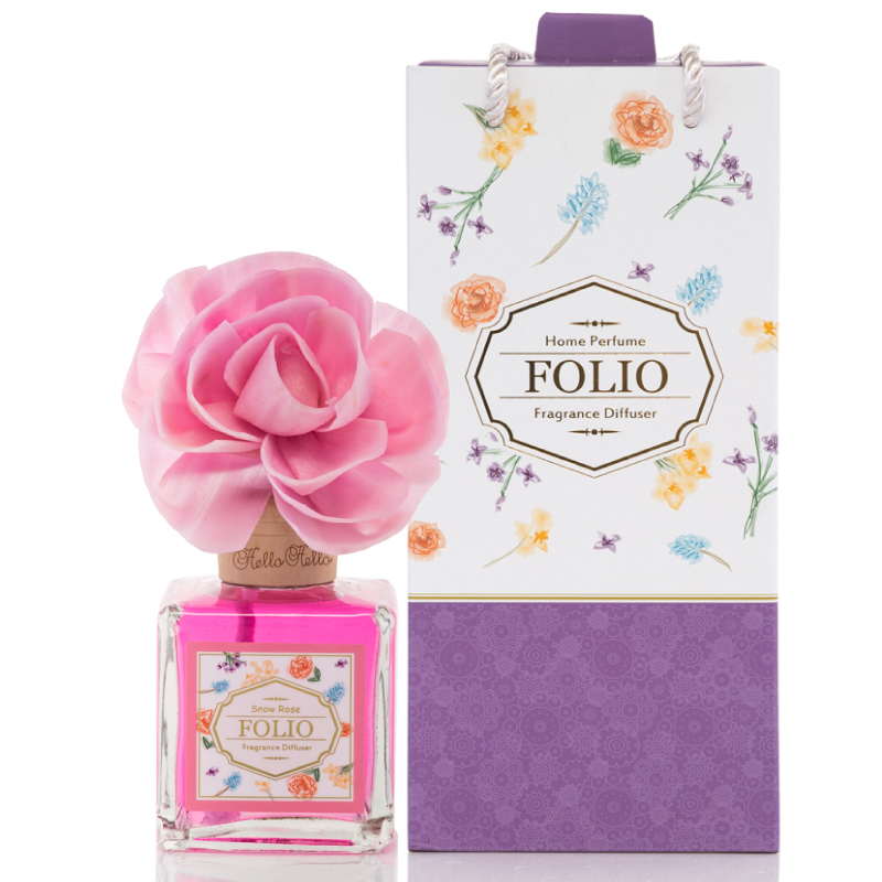 FOLIO花樂擴香禮盒200ml (粉雪玫瑰) 送禮,禮盒,生日禮物,情人節