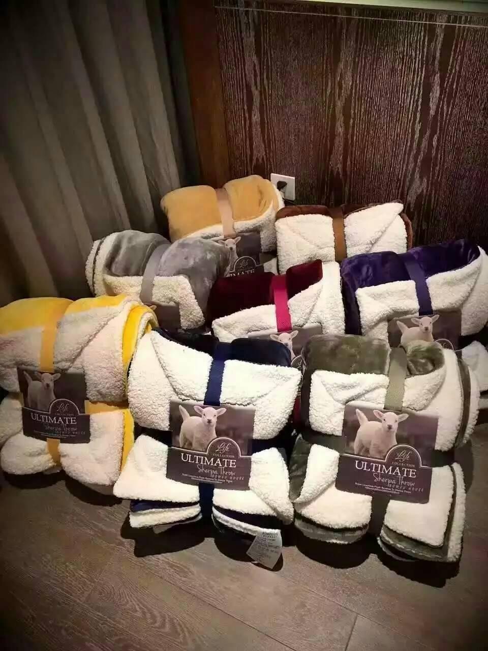 《3號倉庫》絨毛毯/羊毛毯/毯子 頂級外貿羊羔絨毛毯【P0007-12ALL】