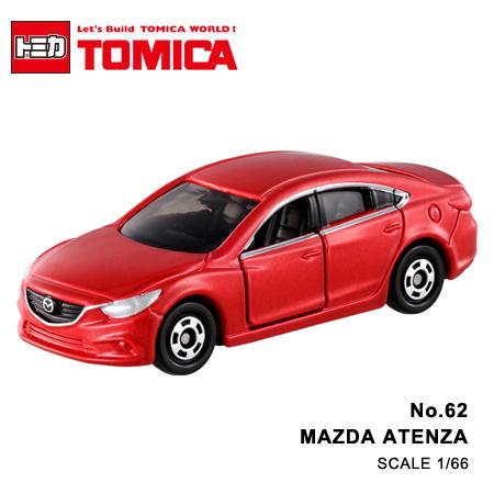 日貨 TOMICA No.62 MAZDA ATENZA 馬自達 真車系列 汽車模型 多美小汽車【N201347】