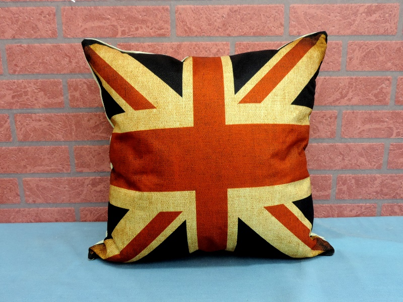 45X45棉麻沙發靠墊《LS3》另有英倫風英國國旗棉麻抱枕 車用靠枕 含枕心 居家布置◤彩虹森林◥