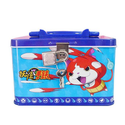 【卡通夢工場】妖怪手錶手提附鎖存錢筒(藍) LH6789