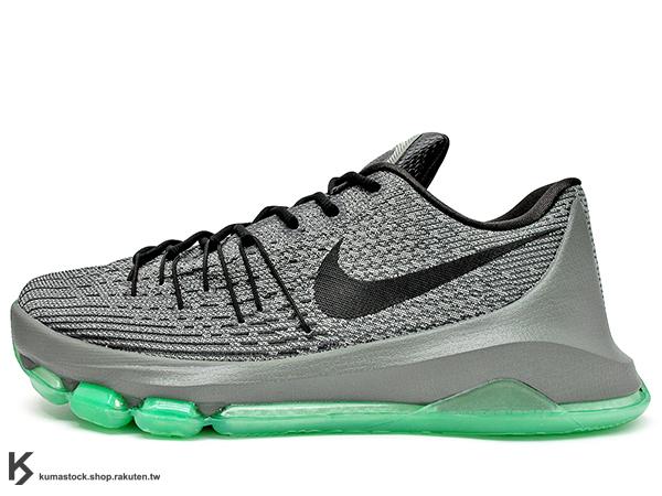 [43%OFF] 2015 NBA 全明星 Kevin Durant 最新代言鞋款 NIKE KD VIII 8 EP HUNTS HILL NIGHT 灰黑綠 灰綠 FLYWEAVE 鞋面科技 + 創新全掌 ZOOM AIR 氣墊 籃球鞋 (800259-020) !