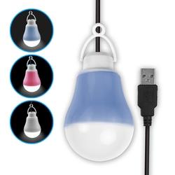 【迪特軍3C】USB LED 隨身照明 帶線聚光燈泡(白光) 小夜燈 露營燈 (USB-56)