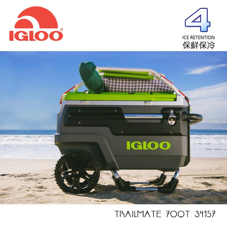 IGLOO TRAILMATE 70QT拉桿冰桶34157 /城市綠洲 (保鮮、保冷、美國製造、露營、釣魚)