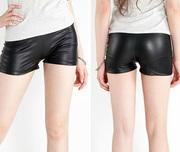 韓版夏款仿皮短褲性感熱褲三分內搭褲