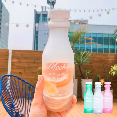 韓國 mechef BPA-FREE 雙開蓋果漾矽膠水瓶(1入) 水果乾水專用 隨身杯 隨行杯 水壺【N202059】