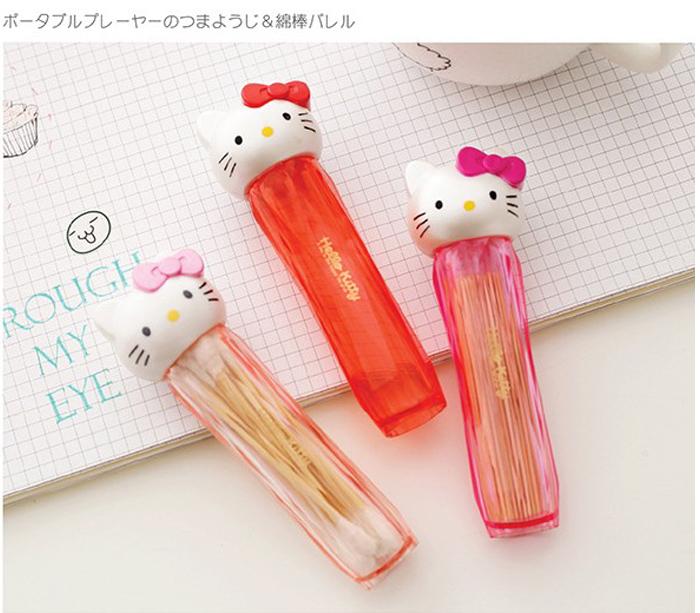 tangyizi輕鬆購【DS106】Hello kitty牙籤盒 迷你牙籤筒 棉花棒筒 攜帶牙籤桶 收納盒