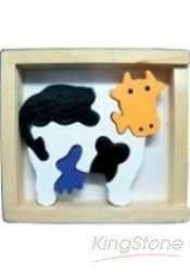小牛哞哞立體拼圖盒