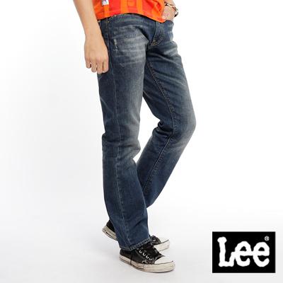 【Super Sales 褲款下殺↘2.5折】LEE Knox 728 標準直筒牛仔褲-男款(中古藍)