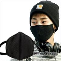 ☆ New Style ☆ 韓流不敗款 明星最愛 EXO 李敏鎬 同款3D立體格紋口罩 濾塵時尚利器 型男靚女必備