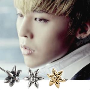 ☆ New Style ☆ BIGBANG 權志龍 G-Dragon GD 同款迷你花朵耳釘耳環 (單支價)