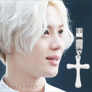 ☆ New Style ☆ SHINee 泰民 TaeMin 同款圓環十字穿刺耳環 (單支價)