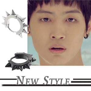 ☆ New Style ☆ 韓國進口 GOT7 JB 林在範 Identify 同款尖錐圓環穿刺耳環 (單支價 )