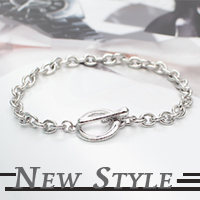 ☆ New Style ☆ 韓國進口‧時尚單品‧極簡風格OT扣手鏈手環‧可當男女對鏈 (單條區)