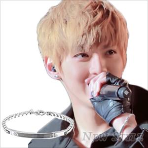 ☆ New Style ☆ EXO Kris 吳亦凡 同款銀光平板手鏈手環 可當男女對鍊 (單條價)