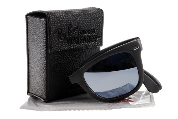 Ray Ban 雷朋 水銀鏡 霧黑 太陽眼鏡 RB4105 摺疊