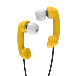 hoomia 好米亞|Bon9聽電話-造型式入耳式立體聲耳機-黃