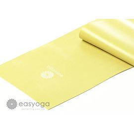 easyoga 瑜珈伸展帶 瑜珈彈力帶-明黃 厚度 : 0.35mm