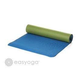 easyoga 瑜珈墊 加長環保瑜珈墊 5mm-藍色/綠色