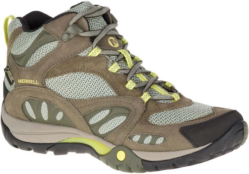 Merrell 中筒登山鞋/防水透氣越野鞋/健行鞋 Azura mid GORE-TEX 女款卡其 J32854