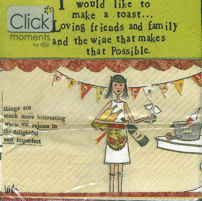 Making A Toast-德國 IHR 副品牌 Click moments 餐巾紙
