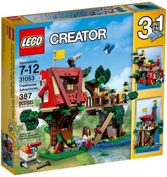 【LEGO 樂高積木】Creator 3合1創作系列 - 樹屋冒險 LT-31053