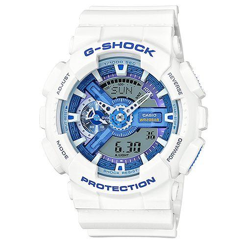 CASIO G-SHOCK GA-110WB-7A航海家蔚藍雙顯流行腕錶/51mm