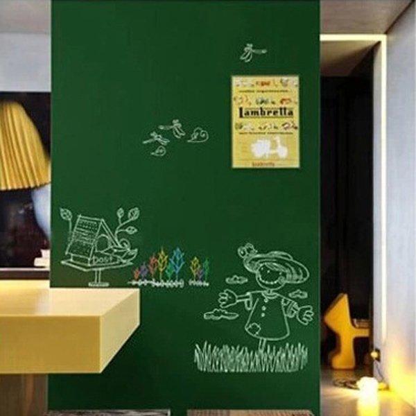 BO雜貨【YV0513】創意綠板貼壁貼 兒童玩具房壁貼 留言版 辦公室公告公佈欄 塗鴉板 告示牌 教學用創意壁貼