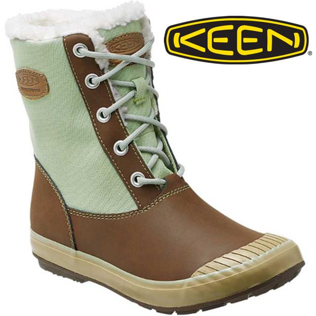 KEEN 中筒雪靴/雪鞋/靴子/雪地靴 ELSA BOOT女款 雪靴163 1015023 淺咖啡/淺綠