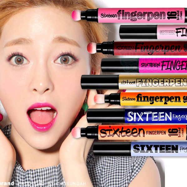 韓國 16brand x FINGERPEN 一筆搞定唇頰彩 FA唇彩x頰彩系列(1入)【巴布百貨】
