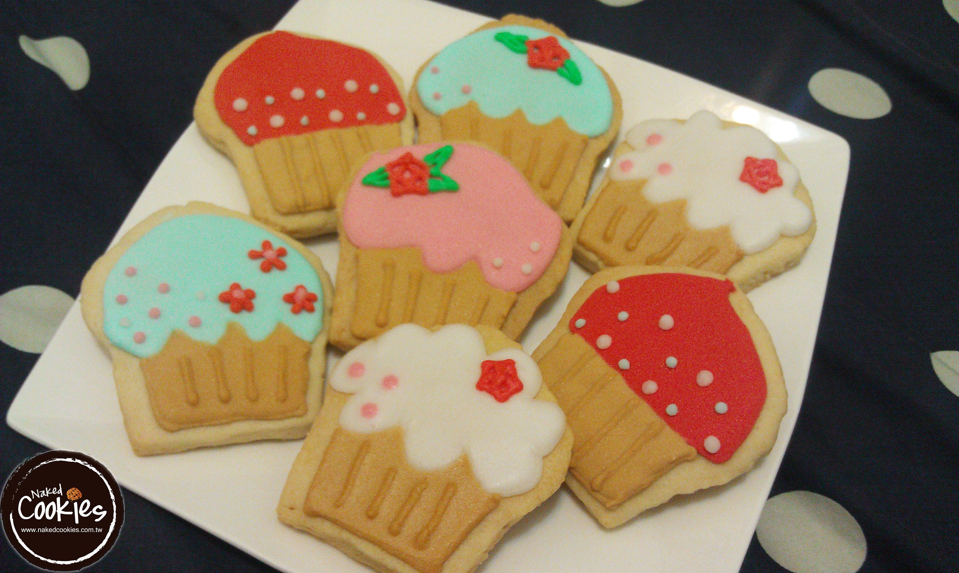 【裸餅乾Naked Cookies】下午茶主題-特殊客製6入-創意手工糖霜餅乾,婚禮/生日/活動/收涎/彌月