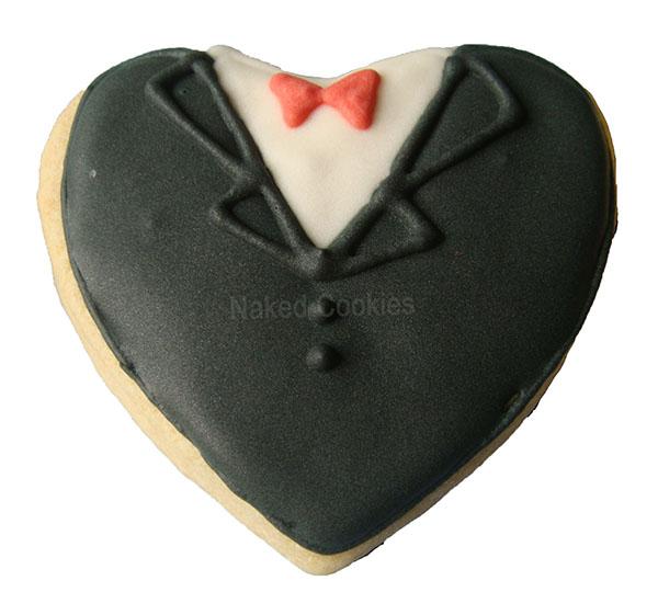 【Naked Cookies】婚禮黑西裝款-創意手工糖霜餅乾,婚禮/生日/活動/收涎/彌月