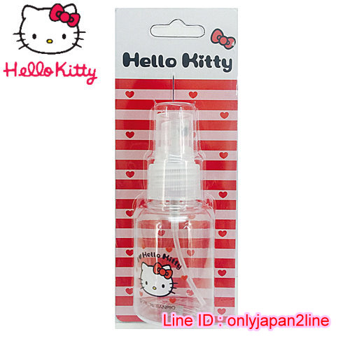 【真愛日本】16101900012擠壓瓶50ML-KT愛心紅   三麗鷗 Hello Kitty 凱蒂貓 收納盒/擠壓瓶/噴霧瓶  旅用組