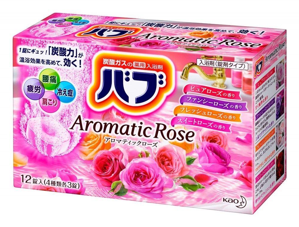 【日本花王】碳酸溫泉錠-玫瑰花園(四種香味) 泡澡 泡湯 非眼罩