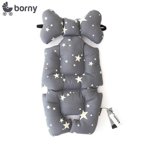 韓國【 Borny 】 全身包覆墊(推車、汽座、搖椅適用) (灰星星)