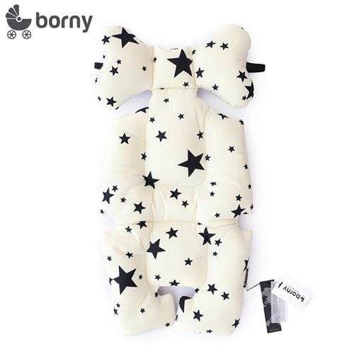 韓國【 Borny 】全身包覆墊(推車、汽座、搖椅適用) (白星星)