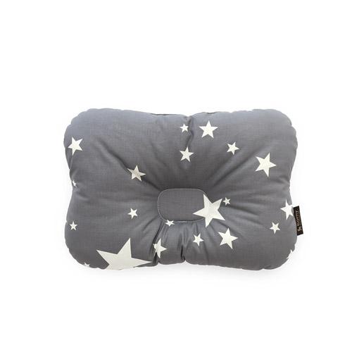 韓國【 Borny 】 3D透氣蜂巢塑型嬰兒枕(0~6個月適用)(灰星星)