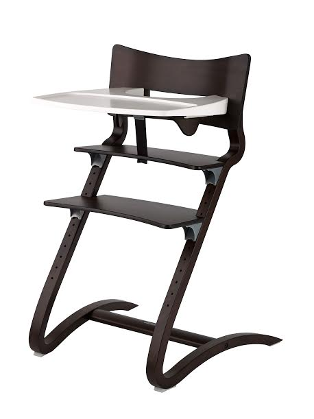丹麥【Leander】新款二代高腳椅+二代護欄+餐盤-胡桃木-少量現貨