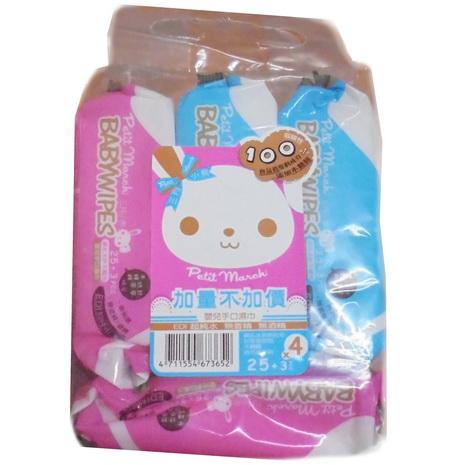 台灣【三月小熊 Petit March】  超純水嬰兒手口濕巾 (28抽X4包)