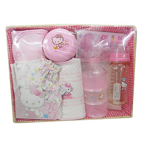 【真愛日本】15073000001新生兒禮盒組-四季 三麗鷗 Hello Kitty 凱蒂貓 禮盒組 嬰兒組