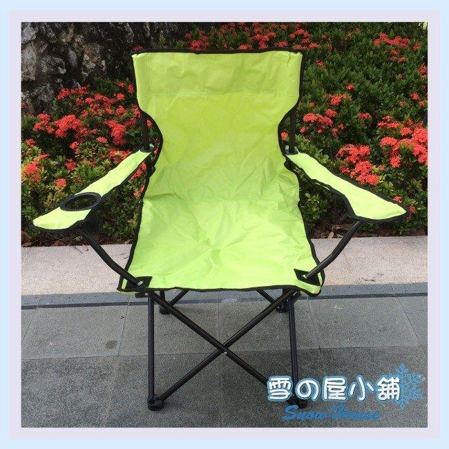 ╭☆雪之屋小舖☆╯@特價優惠中@ 蘋果綠導演椅/扶手椅/烤肉椅/舒適好坐/附背袋/攜帶方便