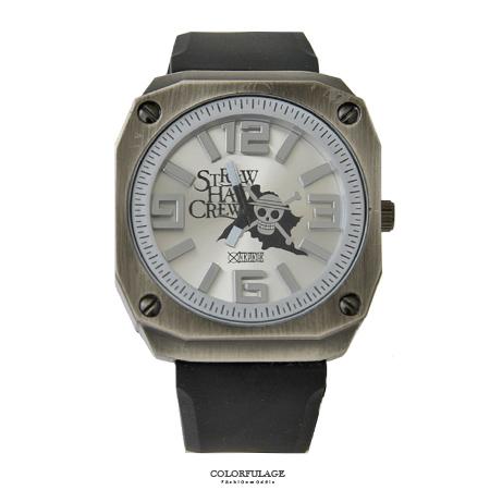 One Piece 海賊王 粗礦錶殼經典骷髏橡膠手錶  柒彩年代【NE1629】原廠平行輸入