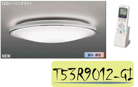 Toshiba日本東芝★白銀 53W 連續調光調色 LED遙控吸頂燈 高演色吸頂燈★永光照明T53R9012-GI