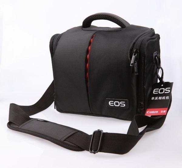 攝彩@Canon 佳能高質感防水相機包-1機2鏡 一機二鏡攝影包-含防雨罩-手提、肩背兩用-20304